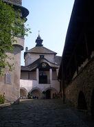 Corral of castle in Niedzica