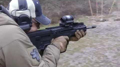 IWI X95 with Trijicon SRS red dot