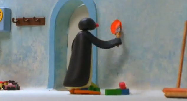 Pingu and the Paint