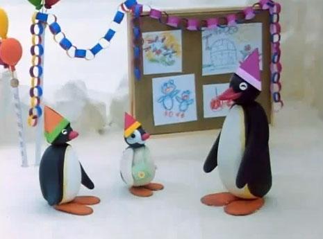 Pingu and Pinga at the Kindergarten