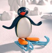 Pingu with skates
