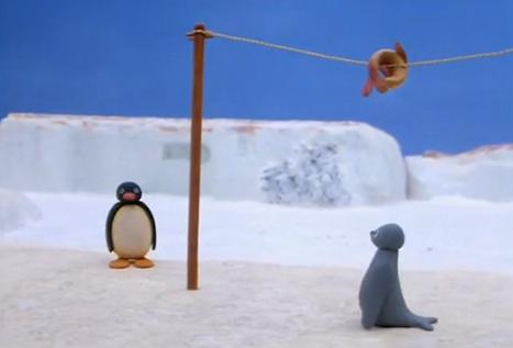 Pingu Plays Fish Tennis