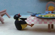 Pingu ruins the table