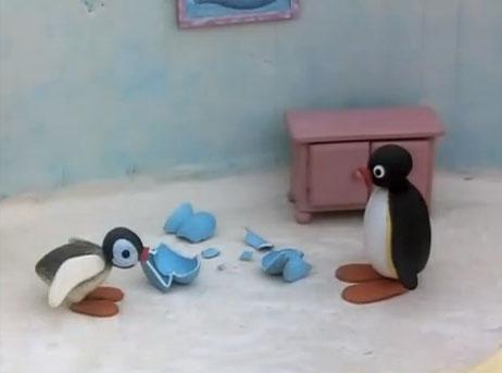 Pingu Breaks a Vase