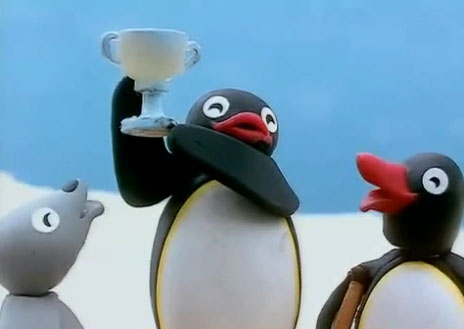 Pingu and His Cup