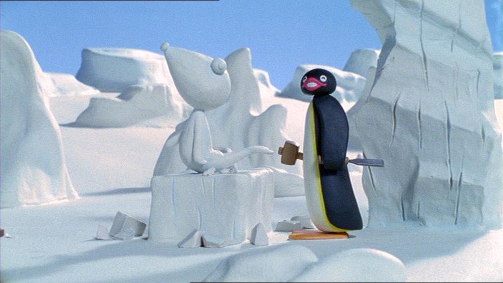 Pingu's Ice Sculpture