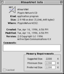 PA Pippin Network CD v2 AtmarkNet info screen