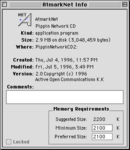 PA Pippin Network CD v2.1 AtmarkNet info screen