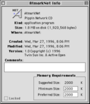 PA Pippin Network CD v1 AtmarkNet info screen