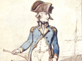 Oficiales de una nave pirata