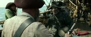 Cortez stabbing a pirate