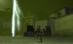 Jolly Roger using his deadly Dark Thunderbolt