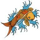 Tattoo koi fish copy