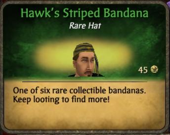 Hawk's Striped Bandana