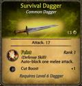 Survival Dagger Card.png