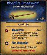 Bloodfire Broadsword