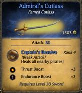 Admiral's Cutlass