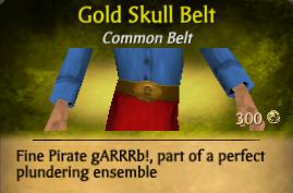 Gold Skull Belt