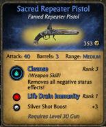 Sacred Repeater Pistol