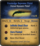 Frostedge Repeater Pistol