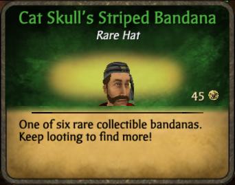 Cat Skull's Striped Bandana