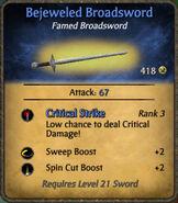 Bejeweled Broadsword