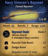 Navy Veteran's Bayonet
