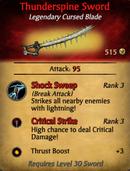 Thunderspine Sword