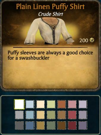 Linen Puffy Shirt