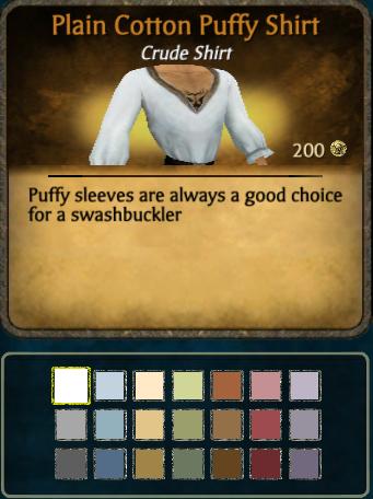 Cotton Puffy Shirt