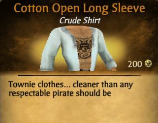 Cotton Open Long Sleeve