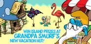 Grandpa Smurf in the Island!