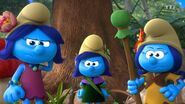 Smurfblossom, Smurfstorm and Smurflily 2021 TV Series