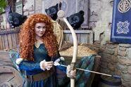 Merida and bear cubs at Disneyland