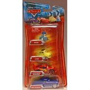 Disney Pixar Cars Toys - Disney Pixar CARS Movie Exclusive 155 Die Cast 4Pack Guido - Luigi - Lightning McQueen Doc Hudson