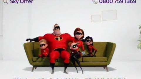 Sky Broadband TV Advert with Incredibles II