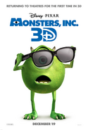 Monsters Inc - Poster 3D