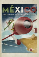Planes vintage poster mexico