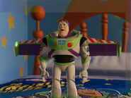 """Buzz getting """"too excited"""" when he open his wings"""