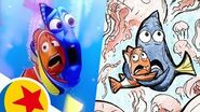 Marlin and Dory in the Jellyfish Forest from Finding Nemo Pixar Side by Side