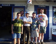 Joe and crew at Route 66 Barbershop