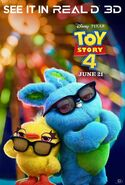 Toy Story 4 Real 3D Poster