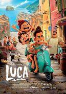 Luca UK Disney+ Poster