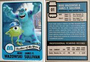 01 Mike and Sulley Rookie Card