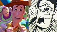 """Toy Story Side-By-Side """"The Final Choice"""" Pixar"""