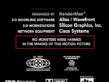 Monsters, Inc. Credits