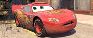 Lightning McQueen Before His Lucky Sticker Gets Dirty From Bessie