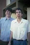 Joe Ranft and Tim Burton