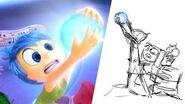 Inside Out Riley's First Day of School Pixar Side by Side