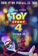 Toy Story 4 Real 3D Forky Poster